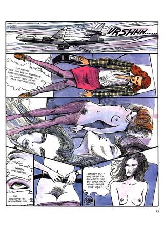 Angst vorm Fliegen von Guido Crepax