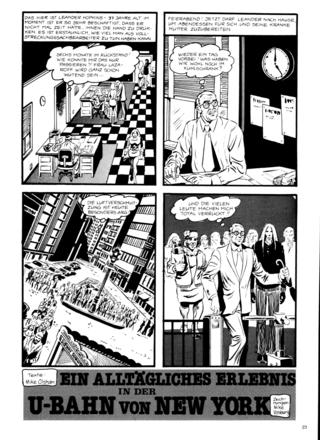Ein Alltaegliches Erlebnis in der U-Bahn von New York von Mike Olshan, Mike Vosburg